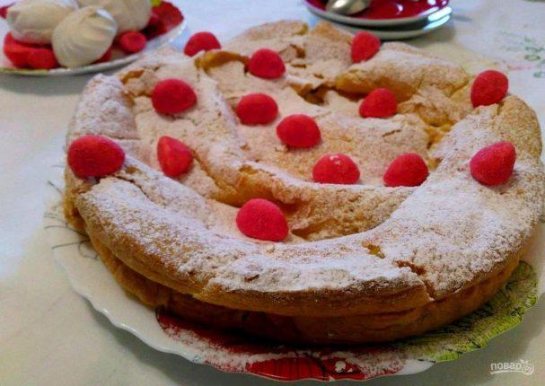 Торт из заварного теста с лимонным курдом