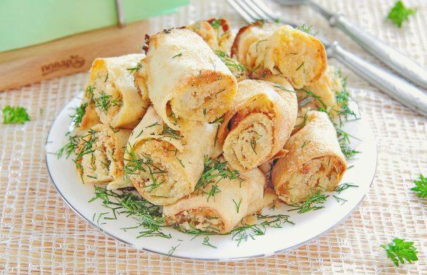 Яичные рулетики с капустой - пошаговый рецепт с фото на Повар.ру