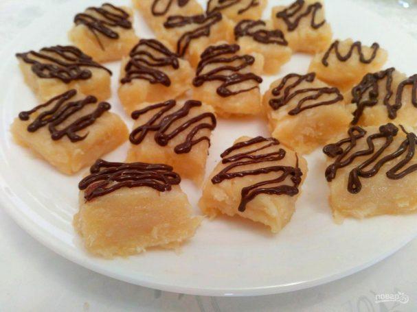 Молочные конфеты с мякотью кокоса