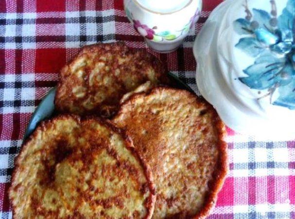 Печеночные оладьи с сыром