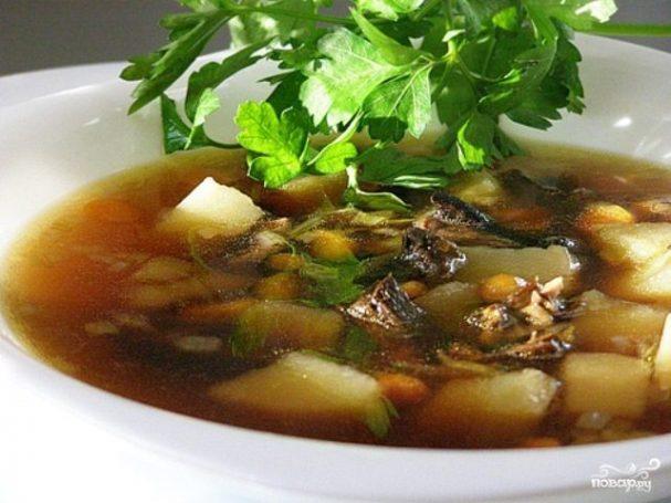 Суп с грибами в мультиварке