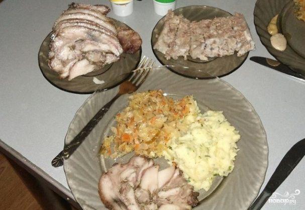 рецепты рулета из свиной головы