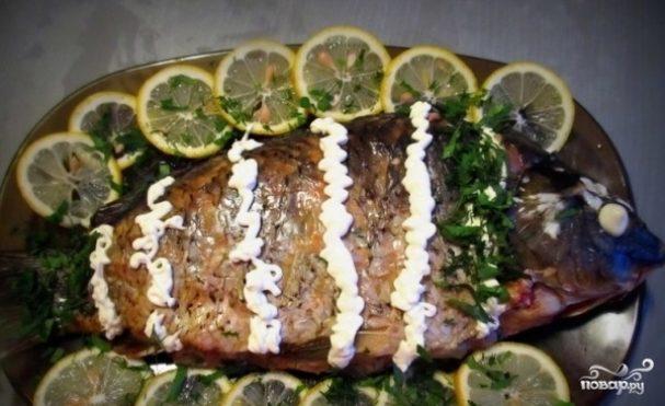 Рыба, фаршированная целиком