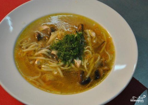 Грибной суп без картофеля