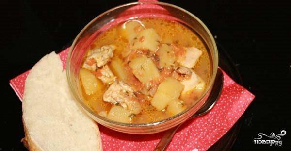 Картофельный соус с курицей