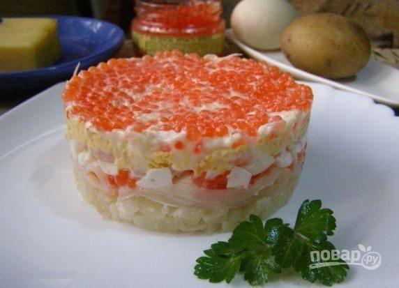 """""""Морской салат"""" с креветками и кальмарами"""