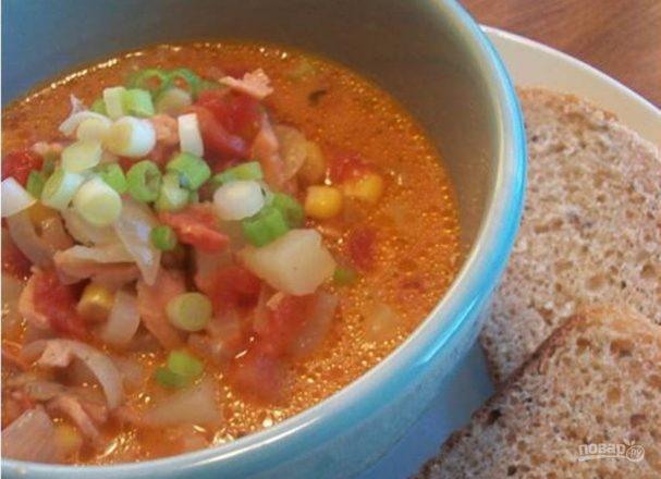 суп рыбный из горбуши консервированной