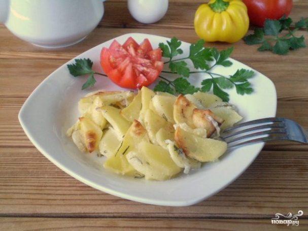 Картошка в кефире в духовке