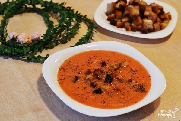 Томатный суп-пюре с сыром