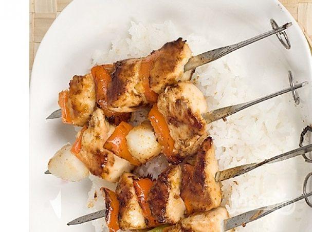 Шашлык из курицы (маринад с уксусом)