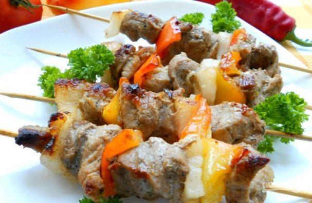 Шашлык на сковороде-гриль