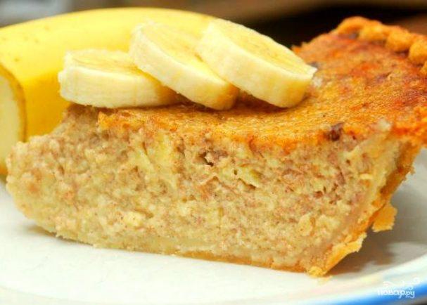 Постная коврижка с медом и бананом