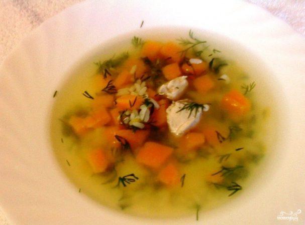 Диетический суп из куриной грудки