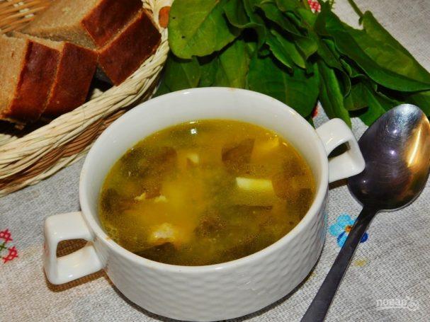 Суп с курицей и щавелем