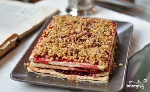 Песочный торт с вареньем