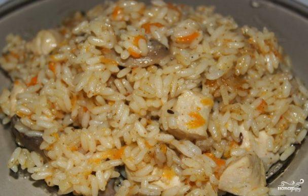 рис с курицей в рукаве в духовке