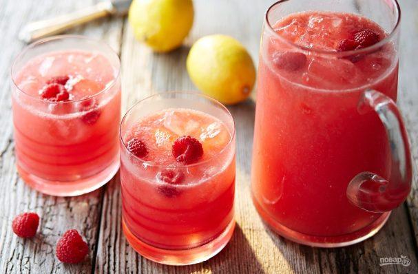 Малиновый лимонад с мятой