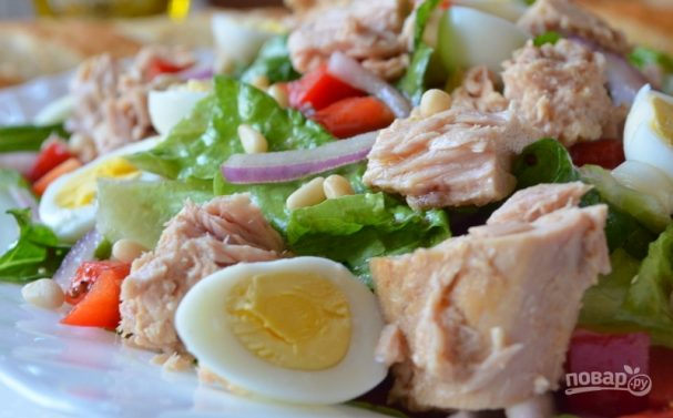 Салат из тунца в масле