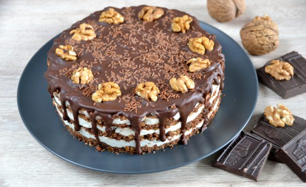 """Торт """"Тающая загадка"""" без выпечки"""