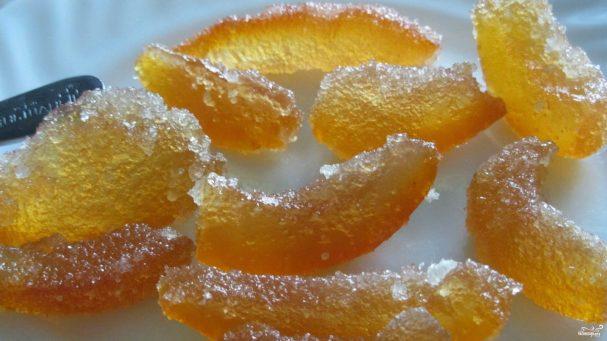 Апельсиновые корки в сахаре