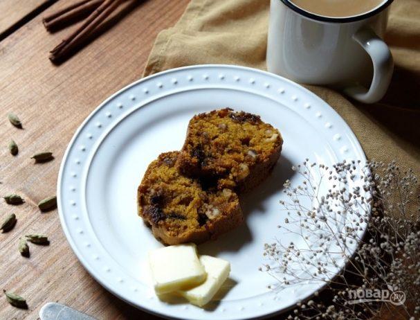 Тыквенный кекс с орехами и шоколадом