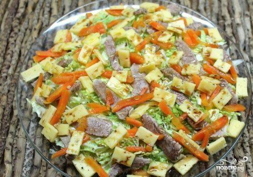 Салат из пекинской капусты с мясом