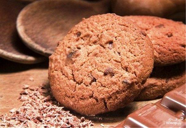 Шоколадное имбирное печенье