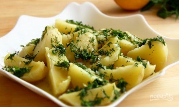 Лимонный картофель