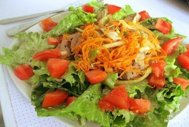 Салат из сердца