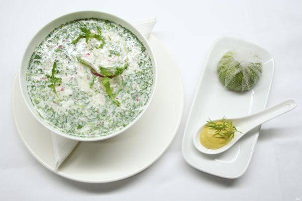 рецепт окрошки с айраном тан