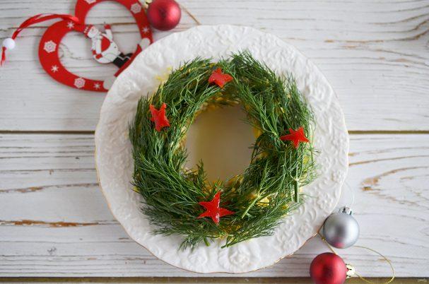"""Рождественский салат """"Венок"""""""