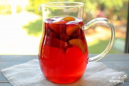 Фруктовый холодный чай