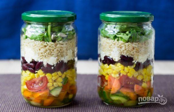 """Овощной салат """"Витамины в баночке"""""""