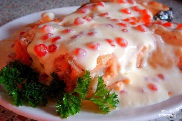 рыба в икорно сливочном соусе рецепт с фото