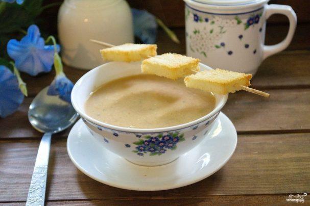 Суп с запеченными баклажанами