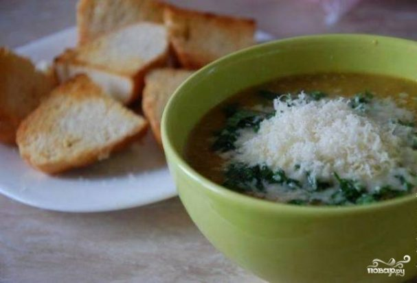 Чечевичный крем-суп