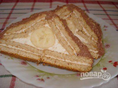 Пирог из печенья и творога без выпечки