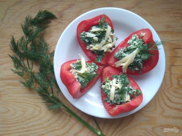Лодочки из помидоров с начинкой