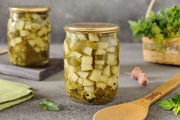 Огурцы кубиками для салатов на зиму
