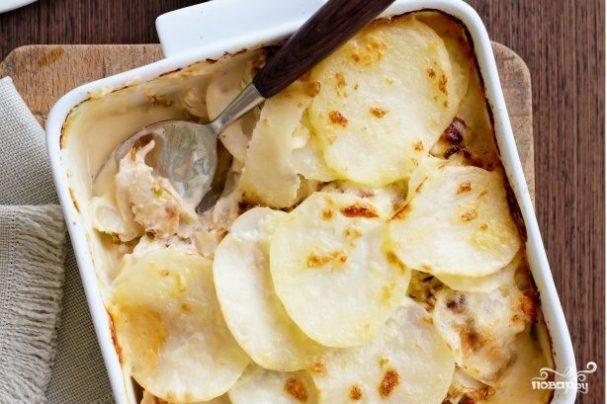 Запеканка с картофелем и курицей