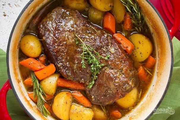 Мясо с картошкой в духовке