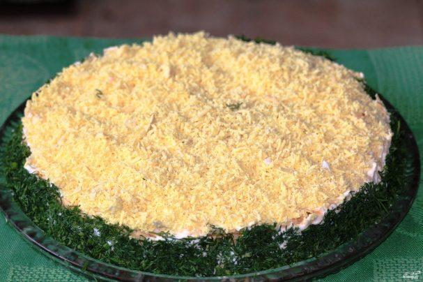 салат мимоза без майонеза