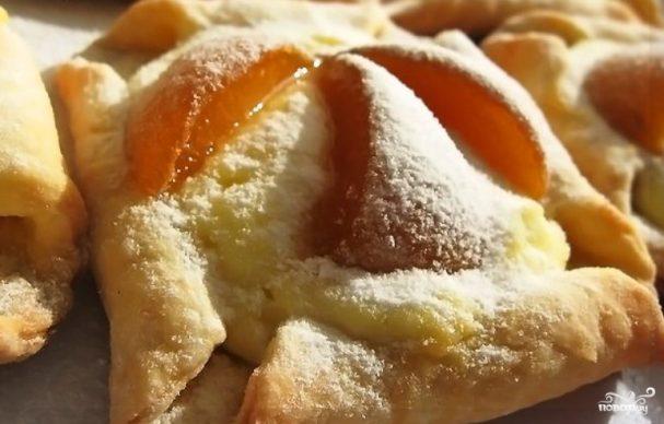 Творожное тесто с абрикосами
