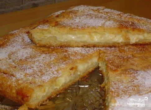 Пирог сладкий с творогом