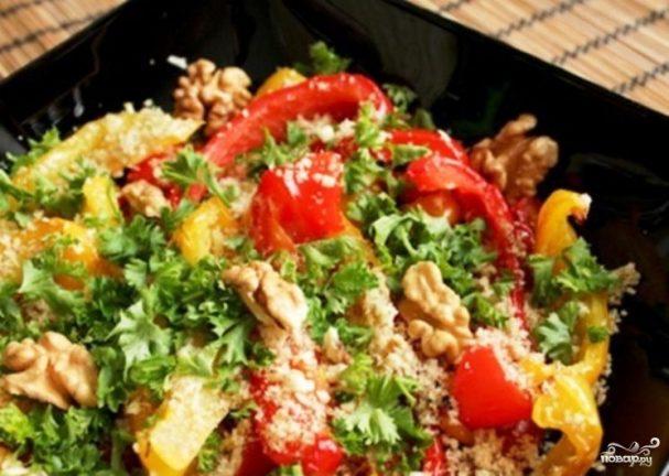 Простой салат с болгарским перцем