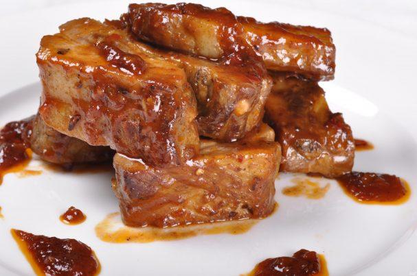 рецепт свиных ребрышк в медовом маринаде