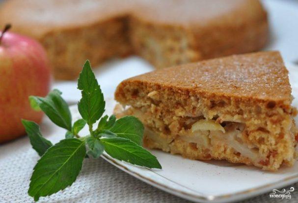 шарлотка постная с яблоками рецепт