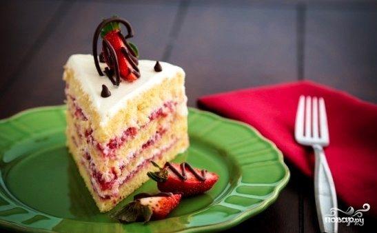 рецепт приготовления торта сметанный клубничка