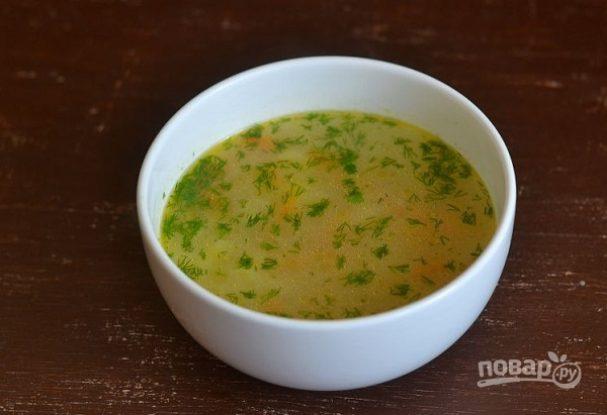 Рыбный суп с консервами