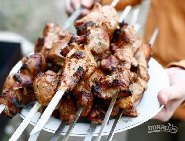Шашлык из свинины с кефиром